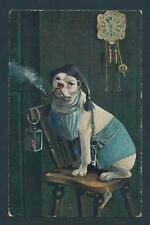 Four Smoking Themed Post Cards, Featuring Children and Dog (Used) Scv: $24.97