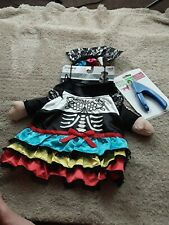 Imagin8 Day Of The Dead Female Dog's Costume Size L & S/M NIP dog nail clippers