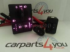 CORSA C / COMBO / TIGRA BLUE RED PINK LED WINDOW SWITCHES & HEADLIGHT SWITCH SET