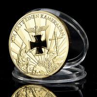 Nazi Germany, 1914-1945, Niemals Vergessen, Gold Plated coin Millionen Iron Pop