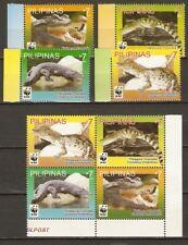 Philippines 2011 Philippinen reptiles wwf CROCODILE 4+4 MNH**  4.00 €