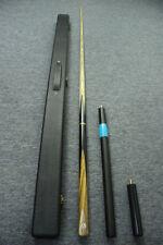 Grand-Cues 3/4 Ash Shaft  Black Ebony Handmade Snooker Cue Set@G803