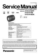 Panasonic Lumix G Vario 14-140mm F3.5-5.6 ASPH/POWER O.I.S Service Repair Manual