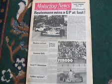 Motoring News 4 April 1974 South African GP Datsun 260Z Peter Gethin 1966 Spa