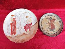 2 schöne,alte Teller (Wandteller)__ Keramik__Grichenland__33cm u. 23cm_!