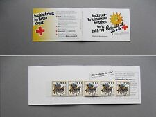 GERMANY BRD, Privat booklet 1989 MNH, Red Cross, Wohlfahrtsmarken, mailcoach