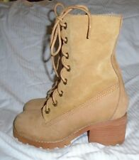 Jeffrey Campbell Tan Whistler Faux Fur Lined Hiker Boots 6 S/O $235 NWOB