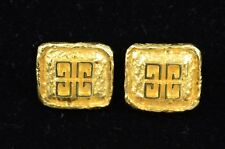 by Givenchy Jewellry Design Gold-tone Clip-on Button Earrings