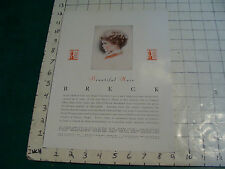 Original 1940's BRECK BEAUTIFUL HAIR  #5 single sided advertising info for store