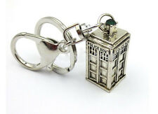 PORTACHIAVI KEYCHAIN KEYRING DR DOCTOR WHO THE TARDIS PHONE BOOTH CABINA TV #4