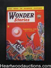 Wonder Stories Aug 1934 Frank Paul Cover, Eando Binder - High Grade