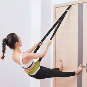 Resistance Band Yoga Strap Door Buckle Workout Ballet Anchor Pull Rope SL