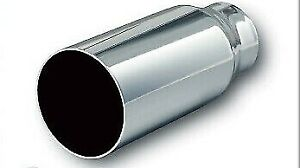 "NEW EAGLE CHROME 12"" BIG BORE EXHAUST EXTENSION MS300 -  FREE AUS POST"