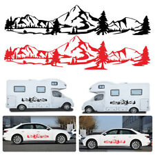 150cm Graphic Sticker Car SUV Offroad RV Camper Decor Tree Mountain Forest Decal