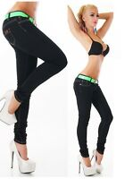 Womens Skinny stretchy Jeans Trousers Black Sizes UK  8 10 12 14 16