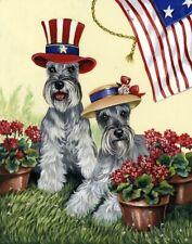 "Precious Pets Garden Flag - Schnauzer USA Flag 12"" x 18"" ~ Charity!"