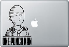 One Punch Man Saitama face - Apple Macbook Laptop, iPad, Vinyl Decal Sticker