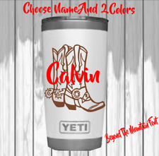 """Monogram Vinyl Decal For Your Tumblers, Ramblers, Cups , Sticker, Western 2.5"""""""
