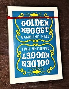 RARE Blue Golden Nugget Gambling Hall Casino Playing Cards UNOPENED M
