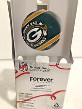 Green Bay Packers Logo NFL Glass Ball Christmas Ornament Forever Collectibles