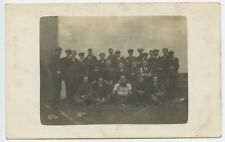 """Grop of Men /  Smoking, with """"The Knut's"""" Sign, Sweden ? Vintage Photo Postcard"""