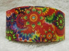 "BRIGHT MULTI COLOURS MULTI PATTERNS - GROSGRAIN RIBBON 25mm / 1""-1-3mtr"