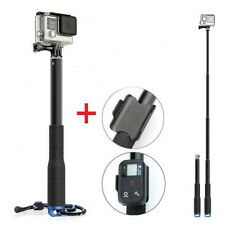 "37"" Telescopic Tripod Monopod Pole with Wifi Remote Holder for GoPro Hero 4 3+ 3"