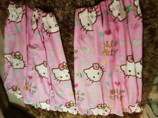 Pair Of  Hello Kitty Curtains  Pink 190cmx135