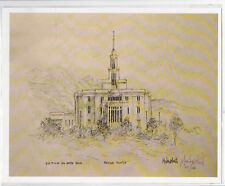 SIGNED Limited Edition PAYSON MORMON TEMPLE Print by Jon Mcnaughton Mother's Day