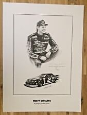 Nascar Art Print RUSTY WALLACE By Gregory Graham Grant Artist Signed 239/2800