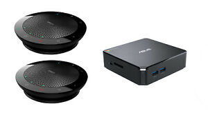 ASUS CHROMEBOX2-G023U i7-5500U 4 GB RAM 16GB SSD with 2x Jabra Speaker Bundle