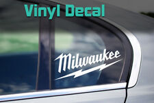 Milwaukee Decal | Tools Chest Truck Trailer Construction Sticker, Multiple Sizes