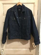 APC Mens Denim Jacket With Sherpa Lining Size Small