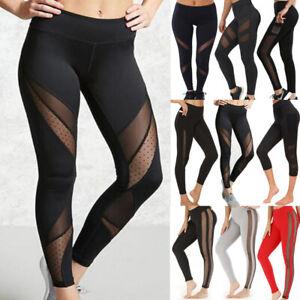 Women Seamless Legging Mesh High Waist Booty Sport Fitness Workout Yoga Pants L9