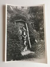 Vintage BW Real Photograph #AG : Attractive You G Woman Garden