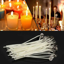 50Pcs 20cm Pre Waxed Candle Wicks With Sustainers Cotton Coreless