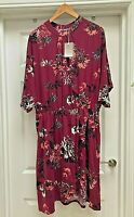 Womens Anthology Multi-Coloured Floral Print Petit Kimono Dress - UK Size 22