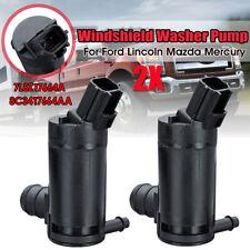 2PC Windshield Washer Pump 7L8Z17664A For Ford F150 F250 F350 E-150 E-250 E-350