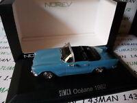 voiture 1/43 NOREV : SIMCA Océane 1962 bleu ciel