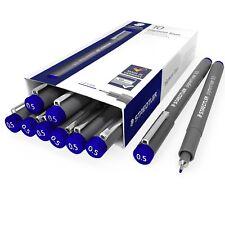 Staedtler 308 Pigmento Liner Fineliner – 0.5 mm – envase de 10 – azul