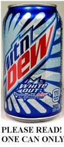 Mountain Dew White Out (2012) FULL NEW 12oz American Pepsi Limited Edition USA