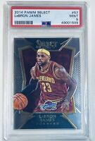 LEBRON JAMES CAVALIERS LAKERS RARE 2014 PANINI SELECT #57 GRADED MINT PSA 9 🐐