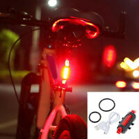 Fj- Ft- MTB Bici Bicicletta LED Luce Posteriore Ricaricabile USB Sicurezza