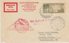 RUSSIA:  2ND POLAR EXPEDITION (1932-33) FLIGHT COVER TO GERMANY