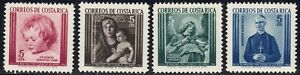 1962 Costa Rica SC# RA12-RA15 - Postal Tax Stamps - M-H