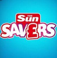 💖 6 Sun Savers UNUSED VALID Codes 31st October 9th 14 15 20 21 November