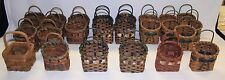 LOT of 25 NEW Wicker Craft Baskets 3