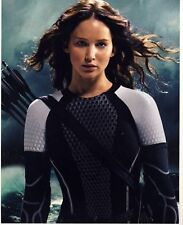 [7013] Jennifer Lawrence HUNGER GAMES Signed 10x8 Photo AFTAL