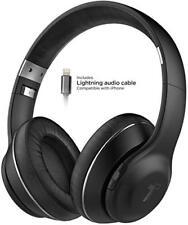 iPhone Bluetooth Headphones Over Ear Wireless Headset Apple MFI Lightning Cord