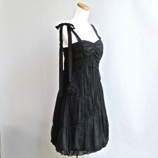 Marc Jacobs Dress Little Black Lace Ruched Origami Asymmetrical Pleats Poufy 4